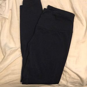 Navy blue workout leggings 7/8 ankle
